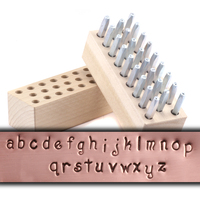 "Beaducation Kismet Lowercase Letter Stamp Set 1/8"" (3.2mm)"