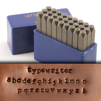"Typewriter Lowercase Letter Stamp Set 5/64"" (2mm)"