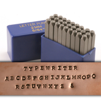 "Typewriter Uppercase Letter Stamp Set 5/64"" (2mm)"