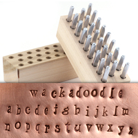 "Beaducation Wackadoodle Lowercase Letter Stamp Set 1/8"" (3.2mm)"
