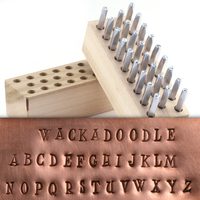 "Beaducation Wackadoodle Uppercase Letter Stamp Set 1/8"" (3.2mm)"