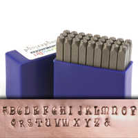 "Wonderland Uppercase Letter Stamp Set 1/8"" (3.2mm)"
