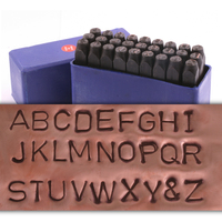 "Economy Block Uppercase Letter Stamp Set 1/4"" (6.4mm)"