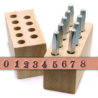 "Beaducation Chronicle Number Stamp Set 3/32"" (2.4mm)"