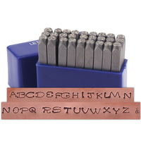"Dots Uppercase Letter Stamp Set 1/8"" (3.2mm)"