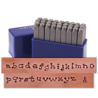 "Dots Lowercase Letter Stamp Set 1/8"" (3.2mm)"