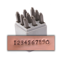 "Newsprint Number Set for Stainless Steel 1/8"" (3mm)"
