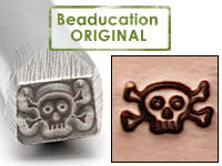 Skull and Crossbones Design Stamp - Beaducation Original