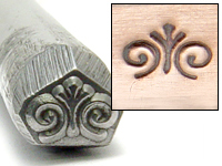 Spiral Finial Design Stamp