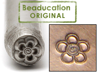 Spiral Flower Design Stamp - Beaducation Original