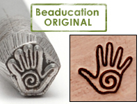 Spiral Hand Design Stamp - Beaducation Original