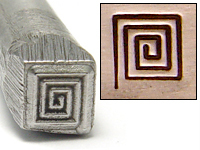 Square Spiral Design Stamp