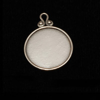 Sterling Silver Circle Pendant with Raised Edge (OXIDIZED)