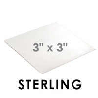 "Sterling 22 gauge Sheet Metal, 3"" x 3"" piece"