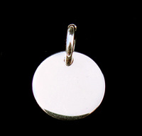 Sterling Silver Thick Small Circle Pendant, 16g