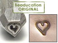 Tiny Heart Design Stamp- Beaducation Original