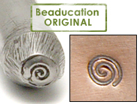 Tiny Spiral Design Stamp - Beaducation Original