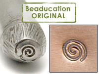 Tiny Spiral Design Stamp - Beaducation Original