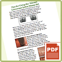 PRODUCT TIP PDF: Using Beaducation Original Letter Stamp Sets