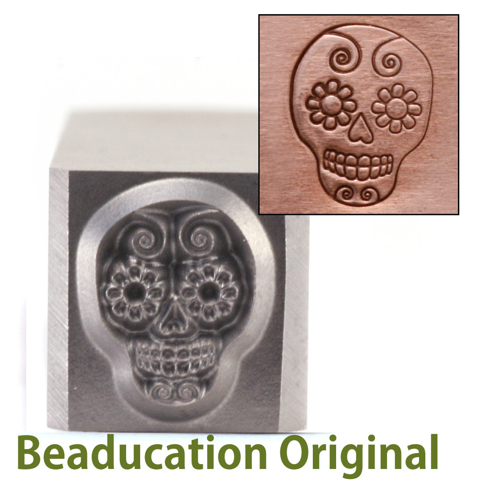 Sugar Skull Design Stamp-Beaducation Original