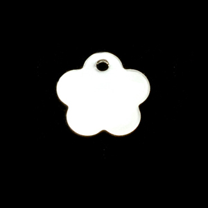 Sterling Silver Flower Tags, 24g