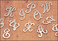 Nickel Silver Letter Charms