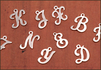 Silver Filled Letter Charms