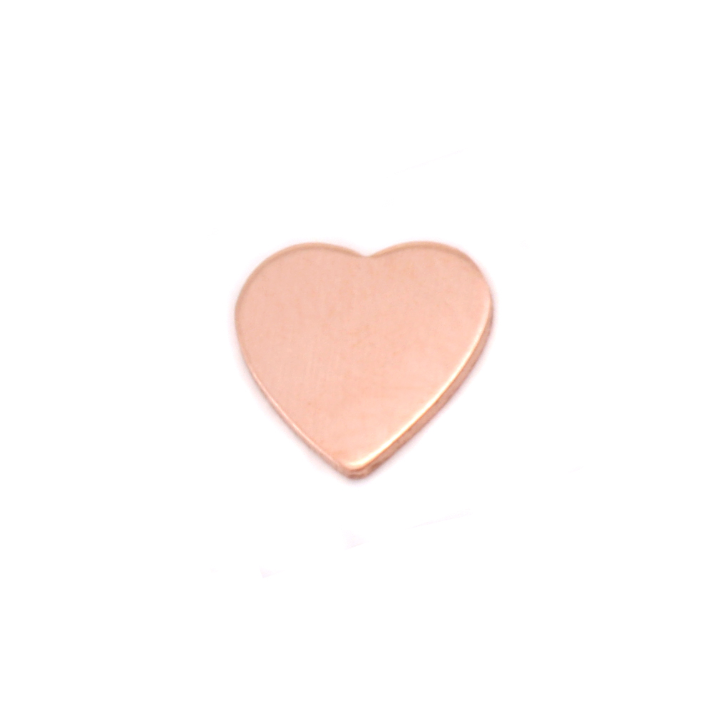 Copper Mini Chubby Heart Solderable Accent, 24g