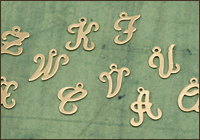 Brass Letter Charms