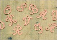 Copper Letter Charms