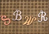Script Letter Charms