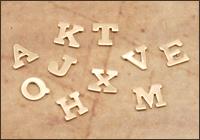 Brass Block Letters