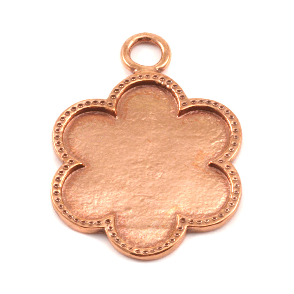 Copper Flower with Dotted Edge