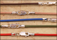 Finished Leather Necklaces