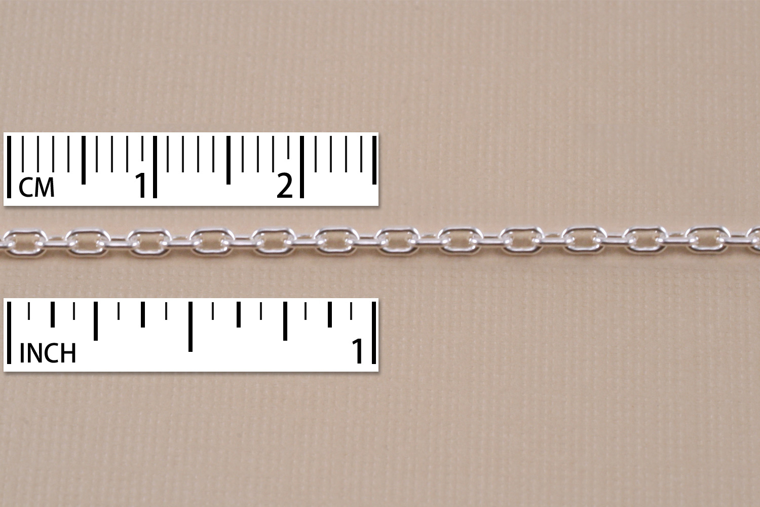 Sterling Silver Drawn Cable Chain 3.5mm x 2.5mm, by the Inch