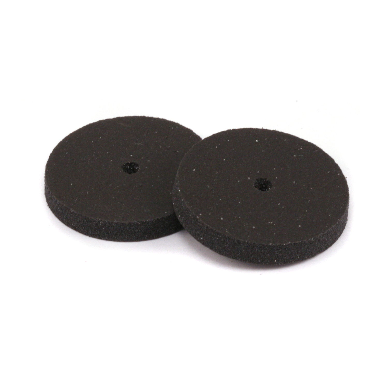 "Silicone Polishing Wheel, Square Edge - Black 7/8"" Medium, 2pk"