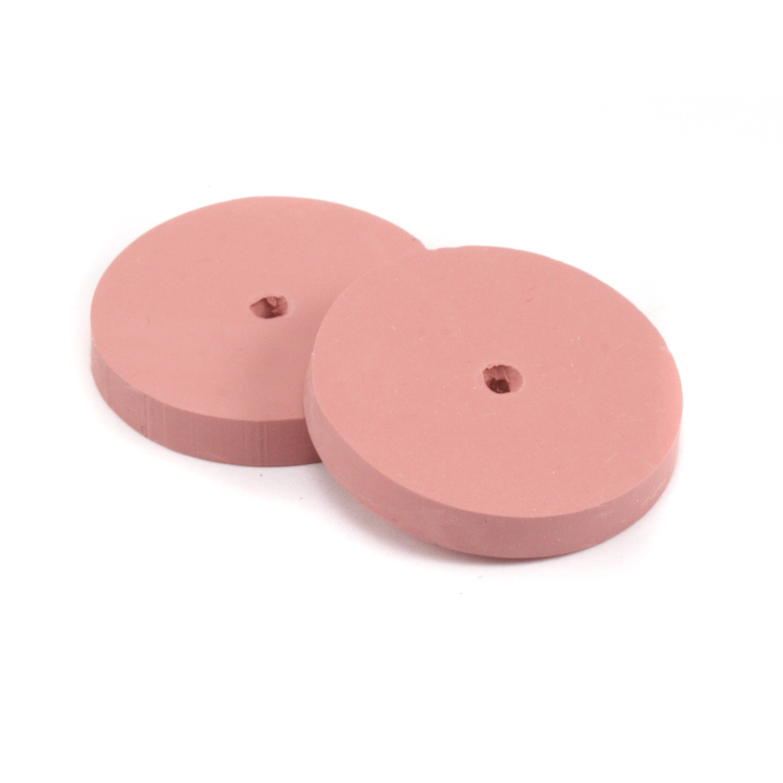"Silicone Polishing Wheel, Square Edge -Pink 7/8"" Extra Fine, 2pk"