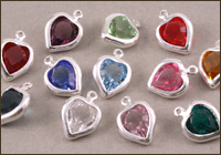 Swarovski Silver Channel Hearts