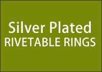 Silver Plated Rivetable Rings