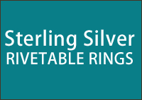 Sterling Silver Rivetable Rings