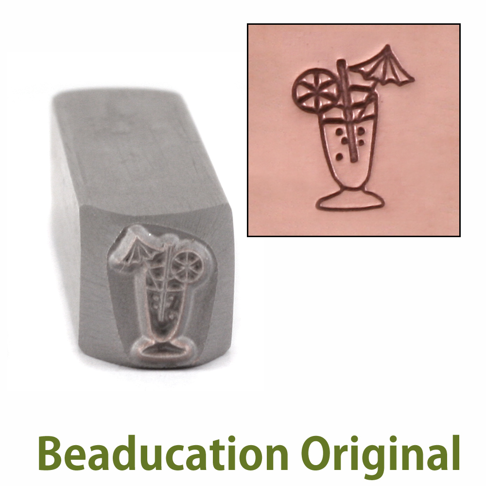 Fancy Cocktail Design Stamp - Beaducation Original