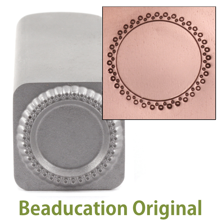 2 Rows of Open Dots Circle Border Stamp-Beaducation Original