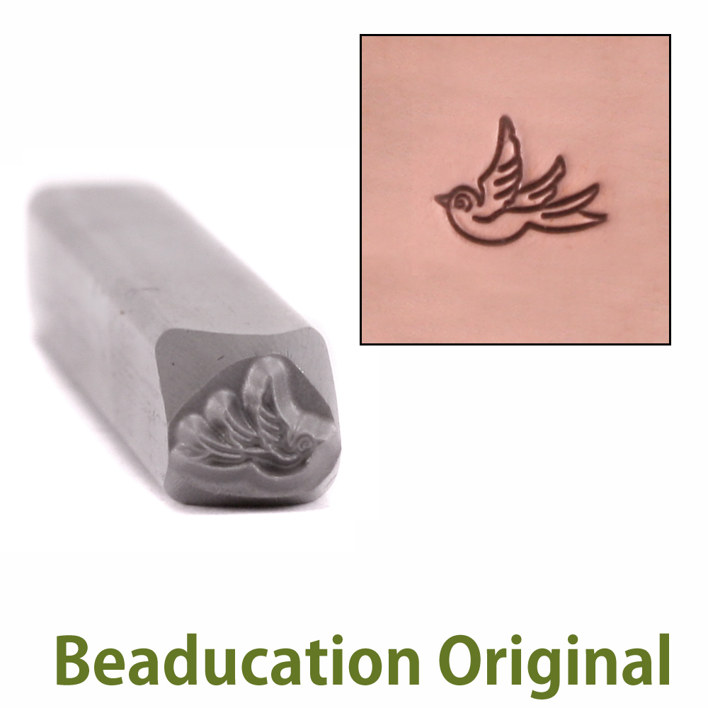 Baby Swallow Left Facing Design Stamp- Beaducation Original