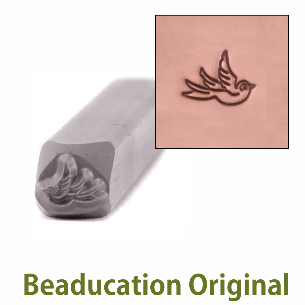 Baby Swallow Right Facing Design Stamp- Beaducation Original