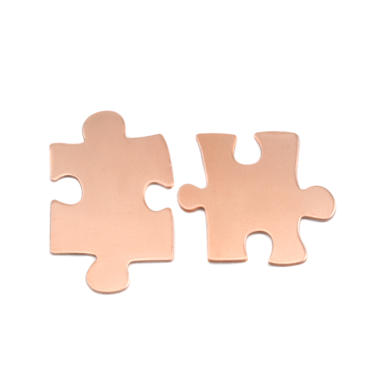 Copper Paired Puzzle Pieces, 24g