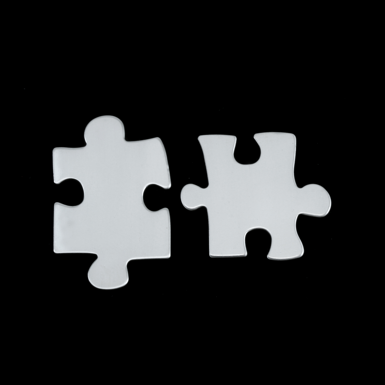 Sterling Silver Paired Puzzle Pieces, 24g