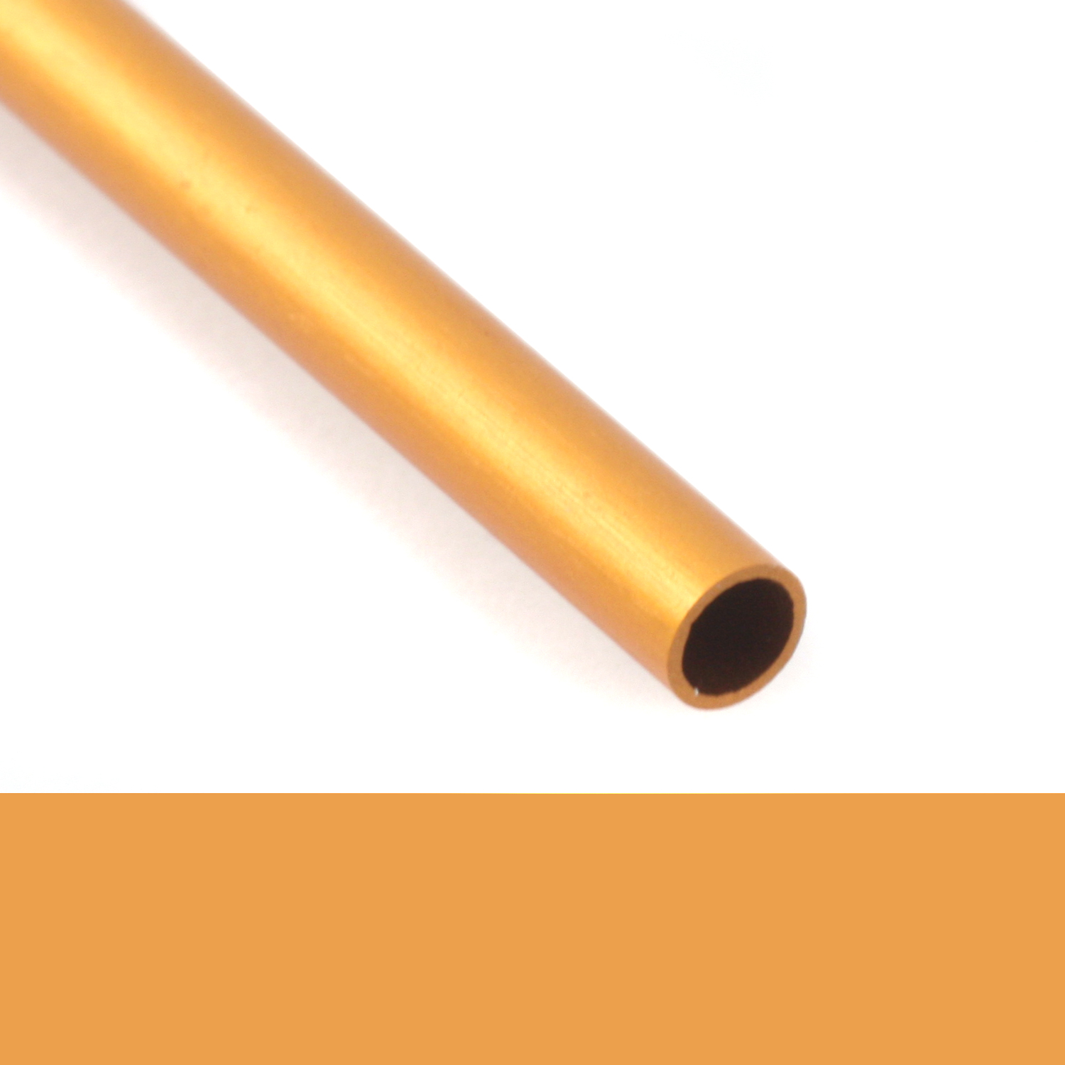 "1/8"" Anodized Aluminum Rivet Tube, 1 Ft, Gold"