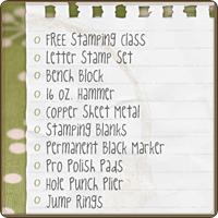 Beginning Stamper Checklist