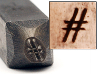 "# Design Stamp, 1/8"""