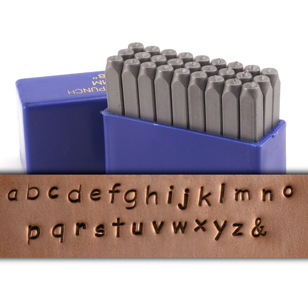 "Basic Lowercase Letter Stamp Set 1/8"" (3.2mm)"